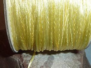 Galantéria - Nylonová šnúrka 1,5mm jasnozlatá 41 - 4705731_