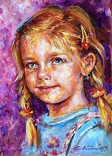 Obrazy - portréty podľa fotografie - 4704745_