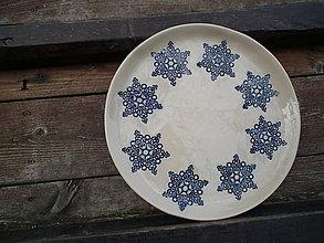 Nádoby - Tanier hviezdy ornament 26cm - 4706710_