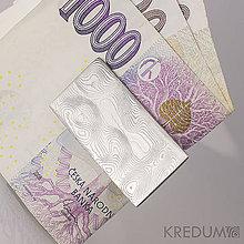 Iné - Kovaná spona na bankovky, nerezová ocel damasteel - 4709548_