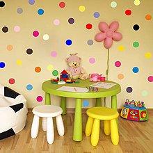 Detské doplnky - 3376 Nálepka na stenu - Guličky dúhy - 4707225_
