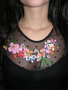 Náhrdelníky - lel flowers XXL prívesok - 4709924_