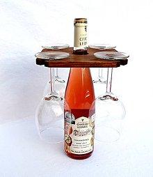 Nádoby - Drevený držiak na poháre na víno - 4711491_
