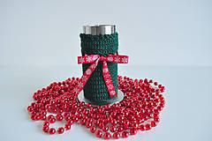 - Vianočný antikorový svietnik - zelený - 4706815_