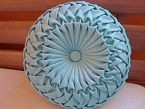 Úžitkový textil - Okrúhly dekoračný vankúš - 4711755_