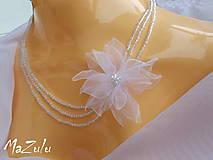 Náhrdelníky - svadobný náhrdelník 3 - 4707550_