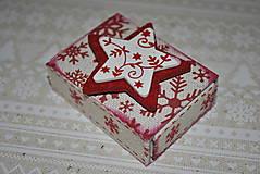 Vianoce - Krabička s vločkami - 4708914_