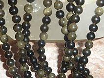 Minerály - Obsidián zlatý 6mm - 4710738_