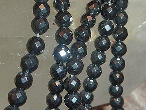 Minerály - Hematit čierny fazetovaný 6mm - 4711027_