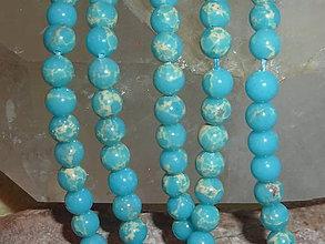 Minerály - Regalit f. modrá 6mm - 4711383_