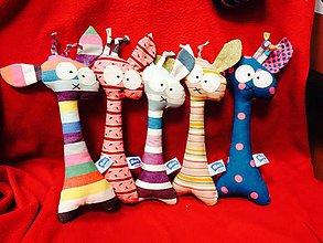 Hračky - Žirafa, čo kuká iba doprava - 4707283_
