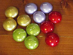 Svietidlá a sviečky - Plávajúce sviečky - rôzne farby - 4709950_