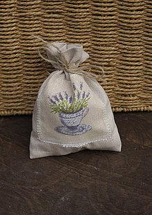 Darčeky pre svadobčanov - Levanduľové vrecúška (13x10cm) - 4713292_