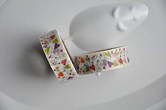 Papier - washi paska srdcia so spiralou - 4715922_