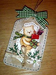 Papiernictvo - Visačka na darček s macíkom - 4714485_