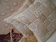 patchwork obliečka smotanovo-béžová
