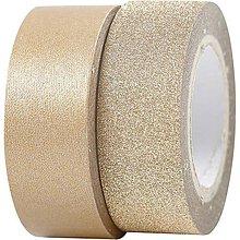 Papier - Washi pásky Duo Zlatá - 2 x 5 m - 4712296_
