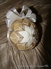 Dekorácie - Vianočná guľa ,,Christmas star\