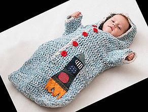 Detské oblečenie - Nebíčkový fusak s raketou - 4715550_