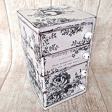 Krabičky - Čierna ruža - 4713652_