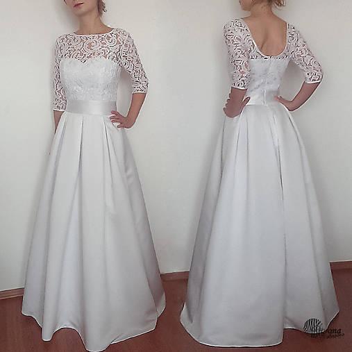 d2099cdaea8c Svadobné šaty v retro štýle so skladanou sukňou   Dyona - SAShE.sk ...