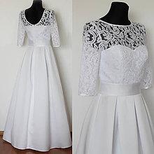 Šaty - Svadobné šaty v retro štýle so skladanou sukňou - 4713041_