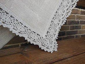 Úžitkový textil - Ľanový obrus Pure Beauty - 4713464_