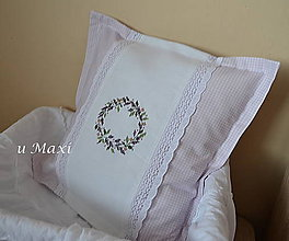 Úžitkový textil - Obliečka na vankúšik Levandulový venček - 4715482_