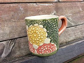 Nádoby - Hrnček kvety 3dcl - 4717129_