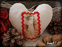 Dekorácie - Srdiečko s dievčatkom - 4718720_