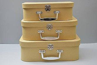 Polotovary - Sada pevných kartónových kufrov, 3 ks - 4717892_