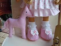 Bábiky - Ružová s koníkom - 4718010_