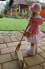 Bábiky - Ružová s koníkom - 4718012_