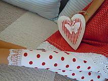 Bábiky - Červená v klobúčiku - 4721522_