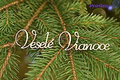 Veselé Vianoce - vyrezaný nápis - MINI