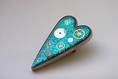 Odznaky/Brošne - Turquoise Love - 4720329_