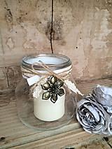 Svietidlá a sviečky - Shabby lampáš so sviečkou - 4719517_