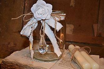 Dekorácie - Shabby pohár I. - 4725109_