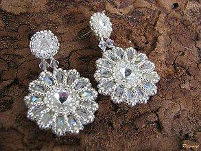 Náušnice - Rounds... (Crystal/Silver) - 4722794_