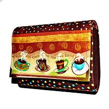 Peňaženky - peněženka Miss Coffee 13cm - 4722645_