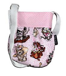 Detské tašky - Kabeluška Mini Kočka - 4722678_