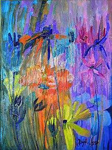 Obrazy - Kvety v záhrade 1 - 4723349_