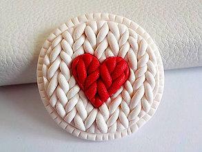 Odznaky/Brošne - srdce PRE TEBA.. - 4722939_
