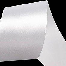 Galantéria - Stuha saténová biela 50 mm - 4728395_