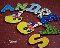 Tabuľky - Drevené písmenká ANDREAS - 4727851_