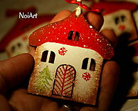 Vianoce - Vianočná ozdoba Chalúpka zasnežená... - 4728684_
