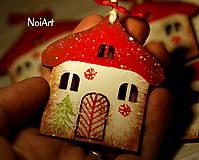 Vianočná ozdoba Chalúpka zasnežená...