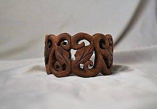 Náramky - Elvish Garden - Drevený náramok - 4726285_