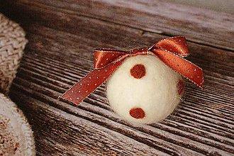 Dekorácie - vianočná guľa Bodka - 4725976_