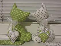 Dekorácie - mačičky v zelenom - 4730162_